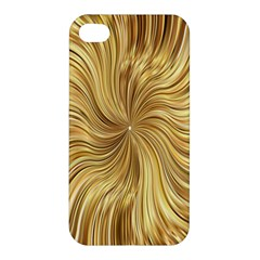Chic Festive Elegant Gold Stripes Apple Iphone 4/4s Premium Hardshell Case by yoursparklingshop