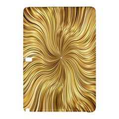Chic Festive Elegant Gold Stripes Samsung Galaxy Tab Pro 12.2 Hardshell Case by yoursparklingshop