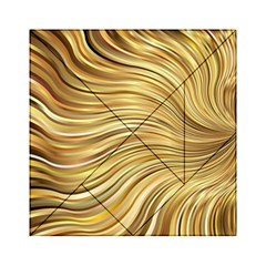 Chic Festive Gold Brown Glitter Stripes Acrylic Tangram Puzzle (6  X 6 ) by yoursparklingshop
