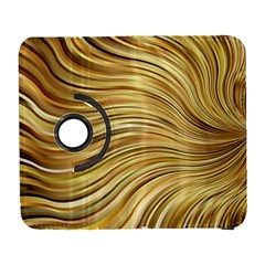 Chic Festive Gold Brown Glitter Stripes Samsung Galaxy S  III Flip 360 Case by yoursparklingshop