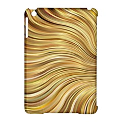 Chic Festive Gold Brown Glitter Stripes Apple Ipad Mini Hardshell Case (compatible With Smart Cover) by yoursparklingshop