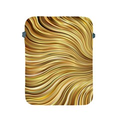 Chic Festive Gold Brown Glitter Stripes Apple Ipad 2/3/4 Protective Soft Cases by yoursparklingshop