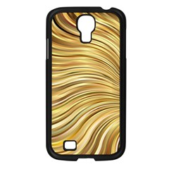 Chic Festive Gold Brown Glitter Stripes Samsung Galaxy S4 I9500/ I9505 Case (black) by yoursparklingshop
