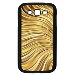 Chic Festive Gold Brown Glitter Stripes Samsung Galaxy Grand Duos I9082 Case (black) by yoursparklingshop