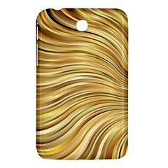 Chic Festive Gold Brown Glitter Stripes Samsung Galaxy Tab 3 (7 ) P3200 Hardshell Case  by yoursparklingshop