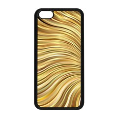 Chic Festive Gold Brown Glitter Stripes Apple Iphone 5c Seamless Case (black) by yoursparklingshop