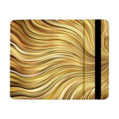Chic Festive Gold Brown Glitter Stripes Samsung Galaxy Tab Pro 8 4  Flip Case by yoursparklingshop