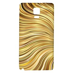 Chic Festive Gold Brown Glitter Stripes Galaxy Note 4 Back Case by yoursparklingshop