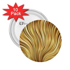 Gold Stripes Festive Flowing Flame  2.25  Buttons (10 pack)  by yoursparklingshop
