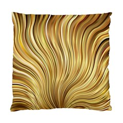 Gold Stripes Festive Flowing Flame  Standard Cushion Case (One Side) by yoursparklingshop