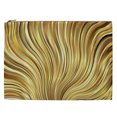 Gold Stripes Festive Flowing Flame  Cosmetic Bag (xxl)  by yoursparklingshop