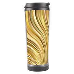 Gold Stripes Festive Flowing Flame  Travel Tumbler by yoursparklingshop