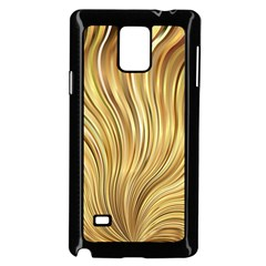 Gold Stripes Festive Flowing Flame  Samsung Galaxy Note 4 Case (Black) by yoursparklingshop