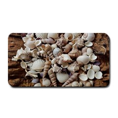Tropical Sea Shells Collection, Copper Background Medium Bar Mats by yoursparklingshop