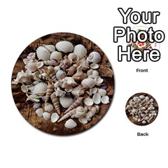 Tropical Sea Shells Collection, Copper Background Multi Purpose Cards (round)