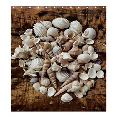 Tropical Sea Shells Collection, Copper Background Shower Curtain 66  X 72  (large)  by yoursparklingshop