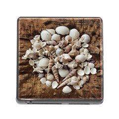 Tropical Sea Shells Collection, Copper Background Memory Card Reader (square) by yoursparklingshop