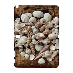 Tropical Sea Shells Collection, Copper Background Samsung Galaxy Note 10 1 (p600) Hardshell Case by yoursparklingshop