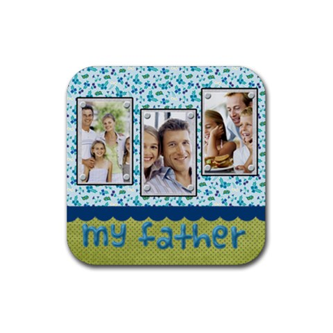 Dad By Dad   Rubber Coaster (square)   V4aag5pemdrn   Www Artscow Com Front