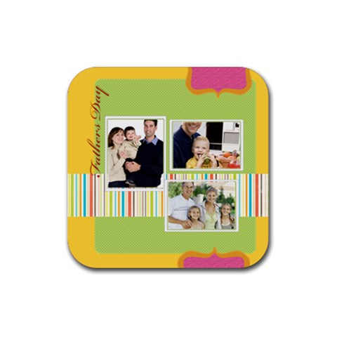 Dad By Dad   Rubber Coaster (square)   2hxdizkl3hfb   Www Artscow Com Front