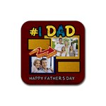 dad - Rubber Coaster (Square)