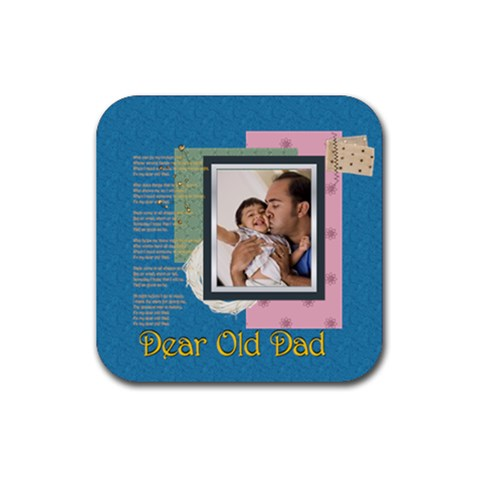 Dad By Dad   Rubber Coaster (square)   Kdhzy01ypjt3   Www Artscow Com Front