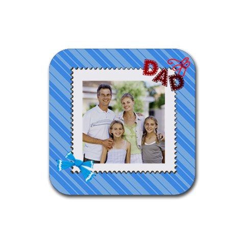 Dad By Dad   Rubber Coaster (square)   Cz6kugbdnqtw   Www Artscow Com Front