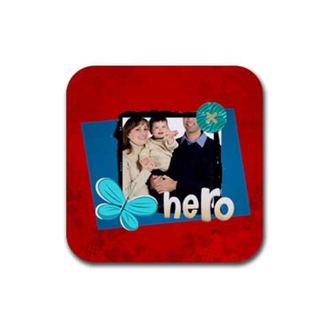 Dad By Dad   Rubber Coaster (square)   Twwxfmmo9wip   Www Artscow Com Front