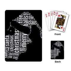 Funny Santa Black And White Typography Playing Card by yoursparklingshop