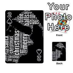 Funny Santa Black And White Typography Playing Cards 54 Designs
