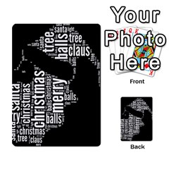 Funny Santa Black And White Typography Multi Purpose Cards (rectangle)  by yoursparklingshop