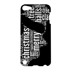 Funny Santa Black And White Typography Apple Ipod Touch 5 Hardshell Case by yoursparklingshop