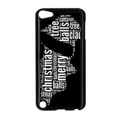 Funny Santa Black And White Typography Apple Ipod Touch 5 Case (black) by yoursparklingshop