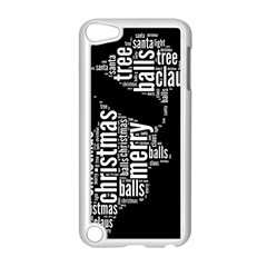 Funny Santa Black And White Typography Apple Ipod Touch 5 Case (white) by yoursparklingshop