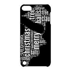 Funny Santa Black And White Typography Apple Ipod Touch 5 Hardshell Case With Stand by yoursparklingshop