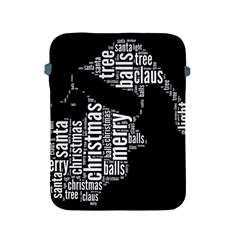 Funny Santa Black And White Typography Apple Ipad 2/3/4 Protective Soft Cases by yoursparklingshop