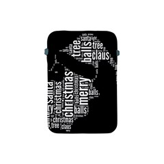 Funny Santa Black And White Typography Apple Ipad Mini Protective Soft Cases by yoursparklingshop