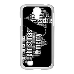 Funny Santa Black And White Typography Samsung Galaxy S4 I9500/ I9505 Case (white) by yoursparklingshop