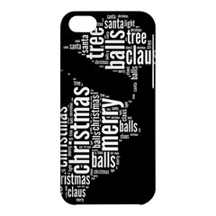 Funny Santa Black And White Typography Apple Iphone 5c Hardshell Case by yoursparklingshop