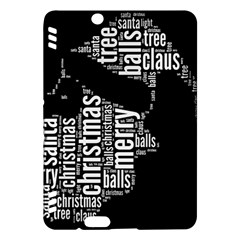 Funny Santa Black And White Typography Kindle Fire Hdx Hardshell Case by yoursparklingshop