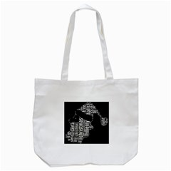 Funny Santa Black And White Typography Tote Bag (white) by yoursparklingshop