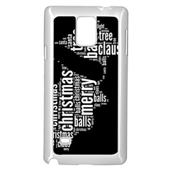 Funny Santa Black And White Typography Samsung Galaxy Note 4 Case (white) by yoursparklingshop