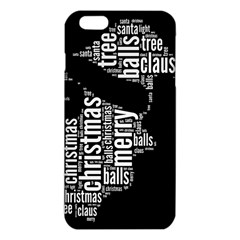Funny Santa Black And White Typography Iphone 6 Plus/6s Plus Tpu Case by yoursparklingshop