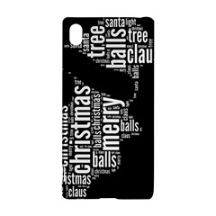 Funny Santa Black And White Typography Sony Xperia Z3+ by yoursparklingshop