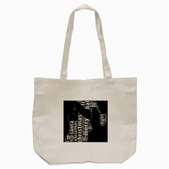 Funny Merry Christmas Santa, Typography, Black And White Tote Bag (cream) by yoursparklingshop
