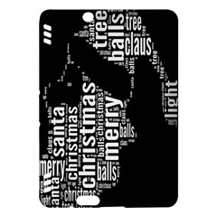 Funny Merry Christmas Santa, Typography, Black And White Kindle Fire Hdx Hardshell Case by yoursparklingshop