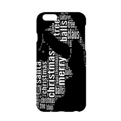 Funny Merry Christmas Santa, Typography, Black And White Apple Iphone 6/6s Hardshell Case by yoursparklingshop