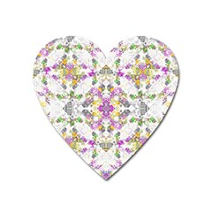 Geometric Boho Chic Heart Magnet by dflcprints