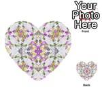 Geometric Boho Chic Multi-purpose Cards (Heart)  Back 15