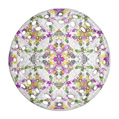 Geometric Boho Chic Ornament (round Filigree)  by dflcprints